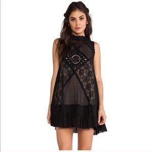 Free People • angel •mini black dress